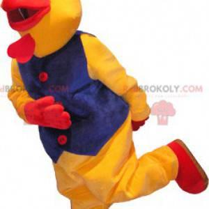 Gigantyczny żółty i czerwony kogut kogut maskotka kostium