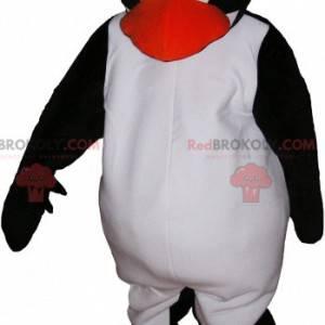 Nettes und berührendes Schwarzweiss-Pinguin-Maskottchen -