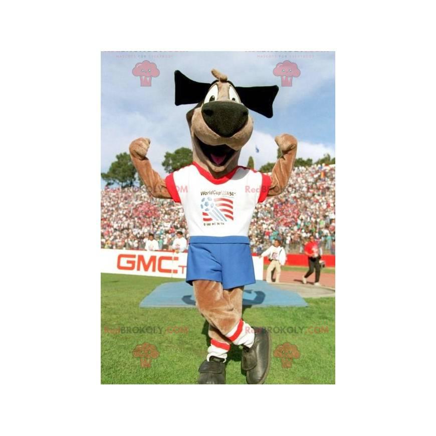 Brown Dog Doggie Maskottchen in Sportbekleidung - Redbrokoly.com