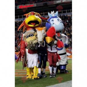 Big blue and brown bird mascot - Redbrokoly.com