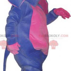 Maskot fialový a růžový osel. Mezek kostým - Redbrokoly.com
