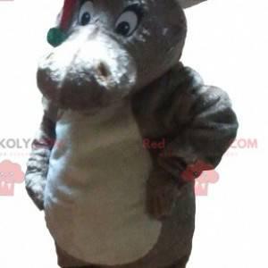 Christmas reindeer mascot with a cap - Redbrokoly.com