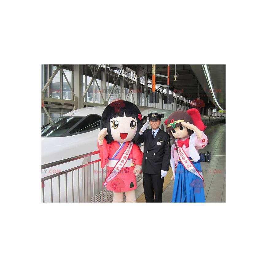 2 maskoti japonských manga dívek - Redbrokoly.com