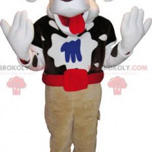 Spotted dog mascot with a big head - Redbrokoly.com