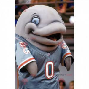 Giant gray dolphin mascot - Redbrokoly.com