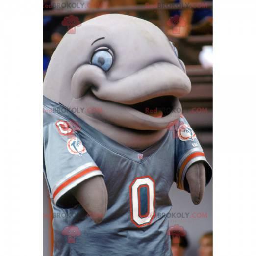 Obří šedý delfín maskot - Redbrokoly.com