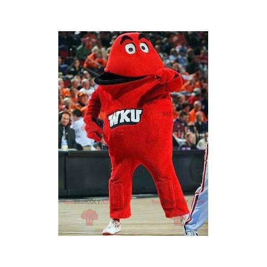 Giant red monster mascot - Redbrokoly.com