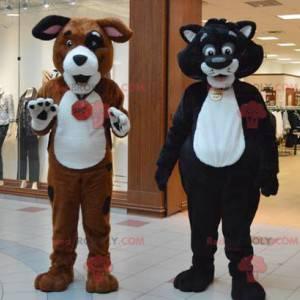 2 Maskottchen eine riesige Katze und ein Hund - Redbrokoly.com