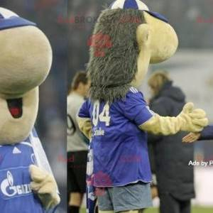 Grande mascote ouriço cinza e bege - Redbrokoly.com