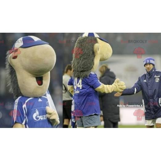 Velký maskot šedého a béžového ježka - Redbrokoly.com