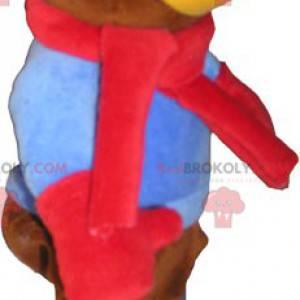 Hnědý medvídek maskot. Medvídek - Redbrokoly.com