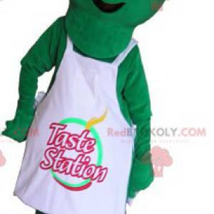 Mimozemský maskot oblečený v kuchařově oblečení - Redbrokoly.com