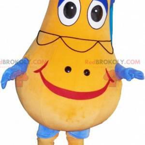 Yellow snowman mascot. Potato mascot - Redbrokoly.com