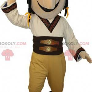 Maskotmann kledd i tradisjonelt ørkenantrekk - Redbrokoly.com