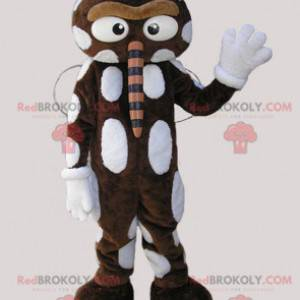 Mascot brown and white insect with a large nose - Redbrokoly.com
