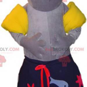 Maskotka foka lwa morskiego w kostiumie kąpielowym -