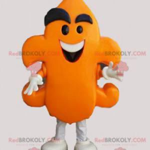Lustiges Orangenmann-Maskottchen. Schneemann Kostüm -