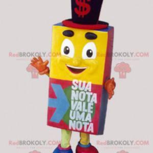 Barevný kubický maskot vypadající žoviálně - Redbrokoly.com
