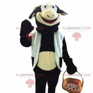 Obří maskot černé a bílé krávy - Redbrokoly.com