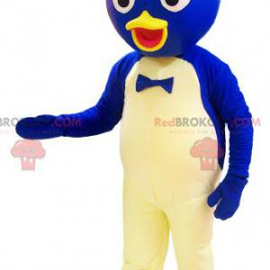 Blue and white duck mascot with a round head - Redbrokoly.com