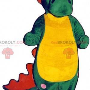 Zelený červený a žlutý krokodýlí maskot - Redbrokoly.com