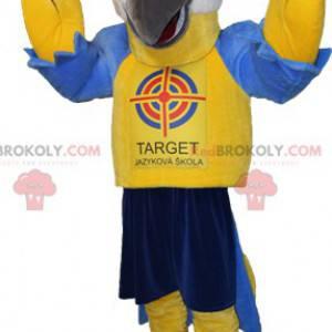 Maskottchen Riesen gelber und blauer Vogel - Redbrokoly.com