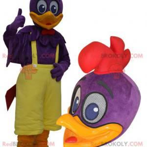 Obří fialový a žlutý kachní maskot - Redbrokoly.com