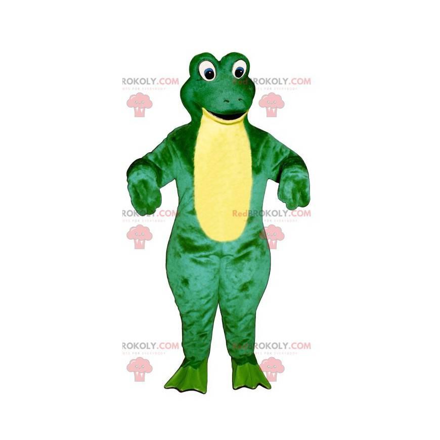 Grünes und gelbes Froschmaskottchen - Redbrokoly.com