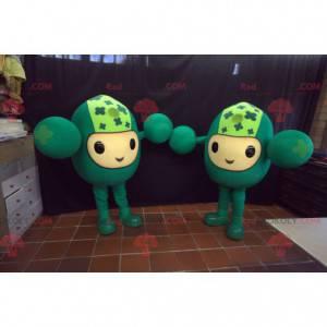 2 zabawne maskotki zielone bałwanki - Redbrokoly.com