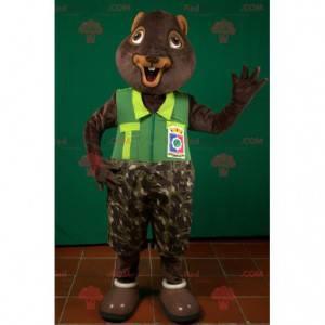 Braunes Biber Murmeltier Eichhörnchen Maskottchen -