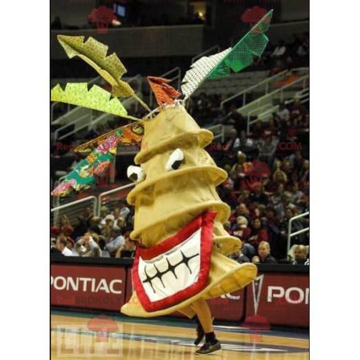 Giant swirl yellow fir mascot - Redbrokoly.com