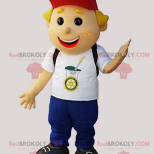 Ung smilende gutteskole-maskot - Redbrokoly.com