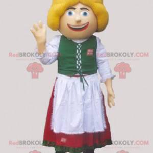 Nederlandsk østerriksk maskot i tradisjonell drakt -