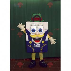 Smiling shopping bag shopping bag mascot - Redbrokoly.com
