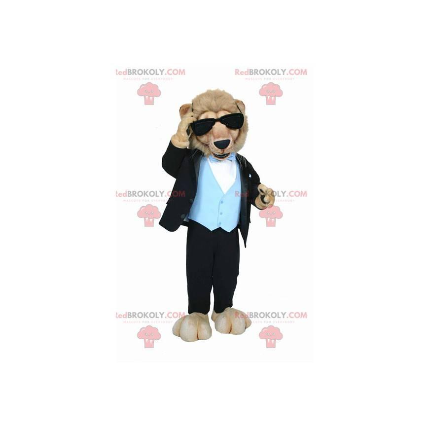 Lion mascot dressed in very classy costume - Redbrokoly.com