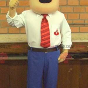 Mascot businessman in elegant and chic suit - Redbrokoly.com