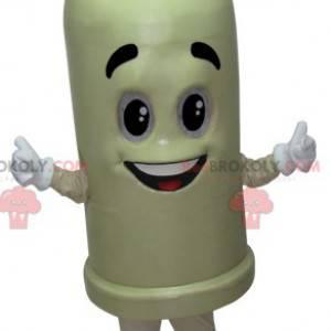 Maskottchen riesiges weißes Kondom mit einem Lächeln -