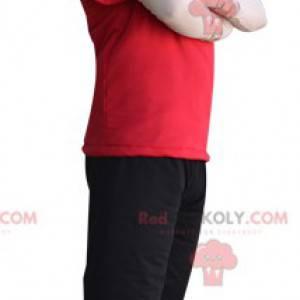 Maskot vysoký muž s krásnou stavbou - Redbrokoly.com