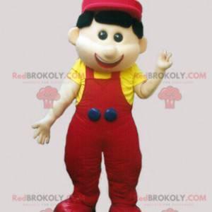 mascot of little man in overalls and cap - Redbrokoly.com
