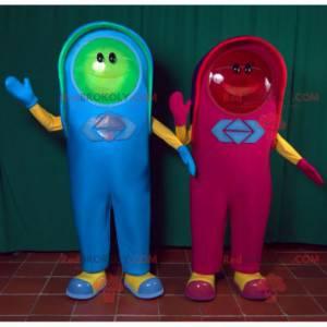 2 mascots a red light and a green light - Redbrokoly.com
