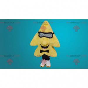 Obří žlutá hvězda maskot - Redbrokoly.com