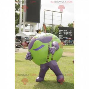 Velký zelený a fialový balón maskot - Redbrokoly.com