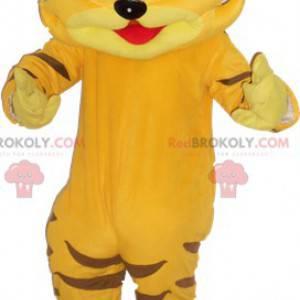 Nettes riesiges gelbes Tigermaskottchen - Redbrokoly.com