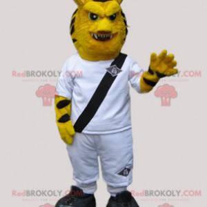 Divoký tygr maskot oblečený v bílém - Redbrokoly.com