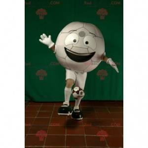 Obří bílý fotbalový míč maskot - Redbrokoly.com