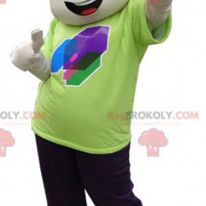 Hnědý chlapec maskot s legrační střih - Redbrokoly.com