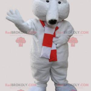 Weiches Eisbärenmaskottchen mit einem Schal - Redbrokoly.com