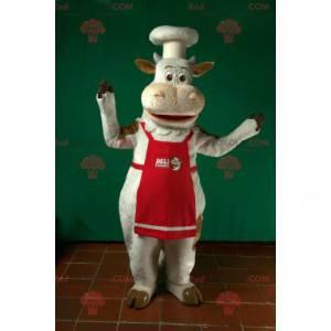 Kuchař kuchař maskot bílá kráva - Redbrokoly.com