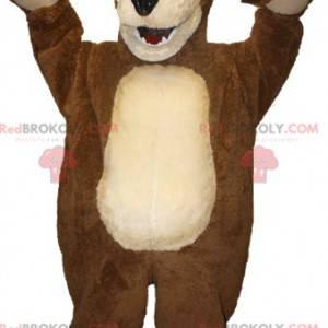 Obří hnědý a béžový medvěd maskot - Redbrokoly.com