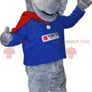Giant gray dog mascot mountain mascot - Redbrokoly.com